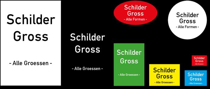 Kennzeichnungsschilder in allen Größen und Formen bei schilder-gross.de